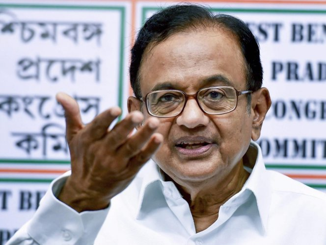 """""""What will remain in memory of Constitution Day 2019 is the most egregious violation of the Constitution in Maharashtra between November 23 and November 26, 2019,"""" Chidambaram said. (PTI Photo)"""