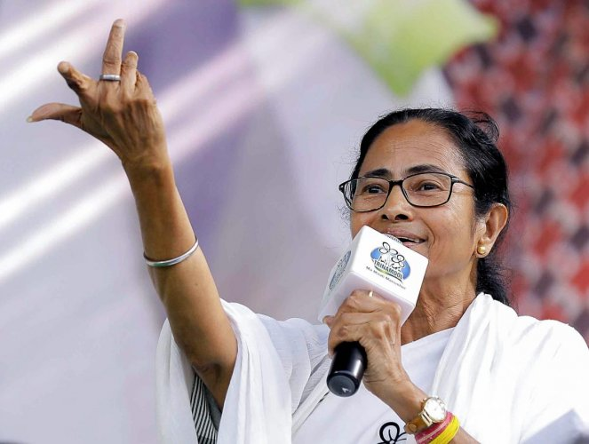 """Efforts are on to destroy the Constitution. We have heard about freedom at midnight but have never heard about government at midnight,"" Banerjee said. (PTI Photo)"