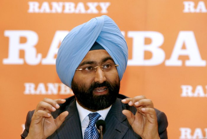 The then Chief Executive Officer and Managing Director of Indian pharmaceutical company Ranbaxy, Malvinder Singh. (AFP Photo)