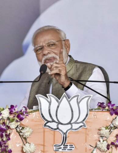 Taking a dig at the Opposition led by the Congress, he said that there was a pattern to some people raising issues just before every parliamentary session. (PTI Photo)