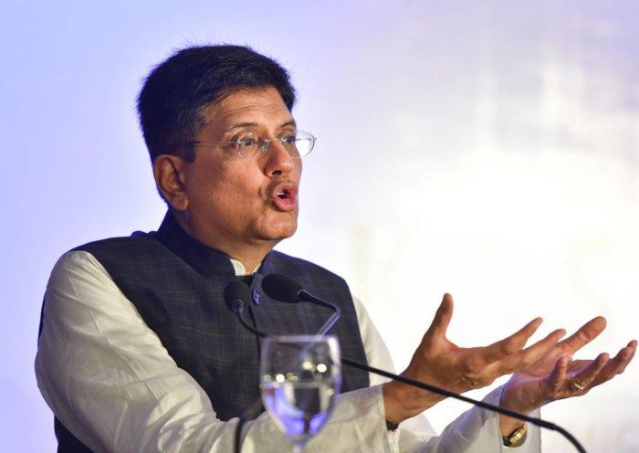 Union Minister of Commerce and Industry & Railways Piyush Goyal. (PTI Photo)