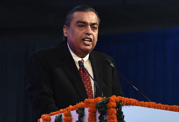Mukesh Ambani, chairman of Reliance Industries. (AFP Photo)