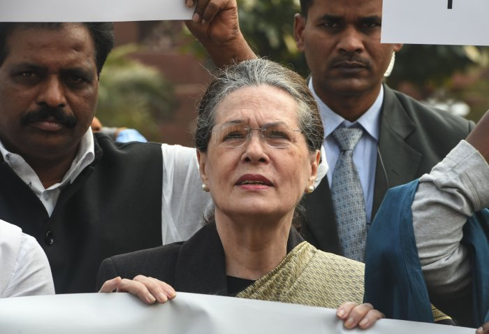 "Sonia Gandhi also attacked the governor of the state, Bhagat Singh Koshyari, saying he had acted in an ""unprecedented and reprehensible manner"". (PTI Photo)"