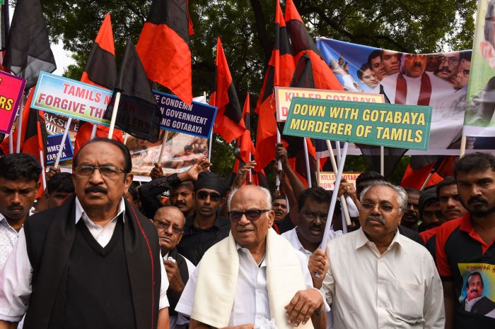 The protestors have been detained and taken to Parliament Street police station, a senior police officer said. (PTI Photo)