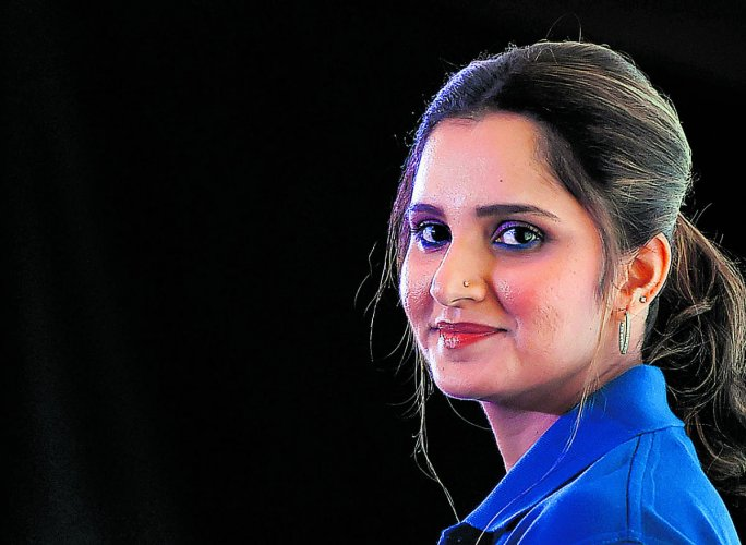 Indian tennis ace Sania Mirza. PTI photo