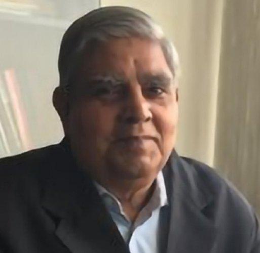 Jagdeep Dhankar. Photo by DH