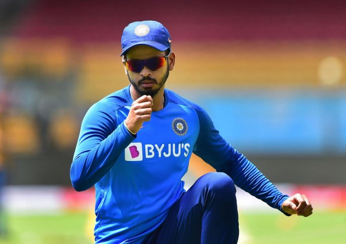 Indian cricket team player Shreyas Iyer during a practice session ahead of the 3rd T20 match against South Africa, at Chinnaswamy Stadium in Bengaluru, Saturday, Sept. 21, 2019. (PTI Photo)