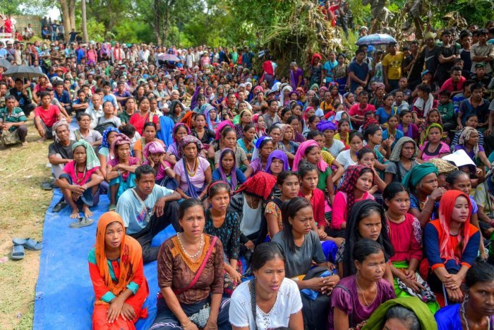 There is some hope for nearly 32,000 Bru refugees regarding their demand for settlement in Tripura. (AFP Photo)