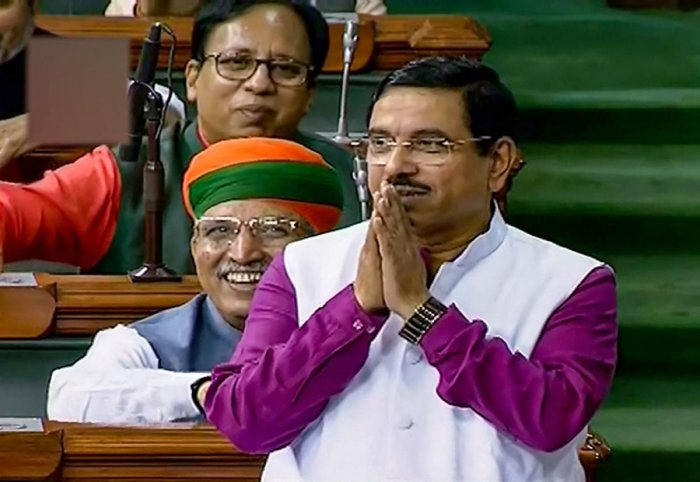 He further said when Pragya was speaking during a debate in the Lok Sabha, the microphone was not on and it cannot be taken on record. (LSTV/PTI Photo)