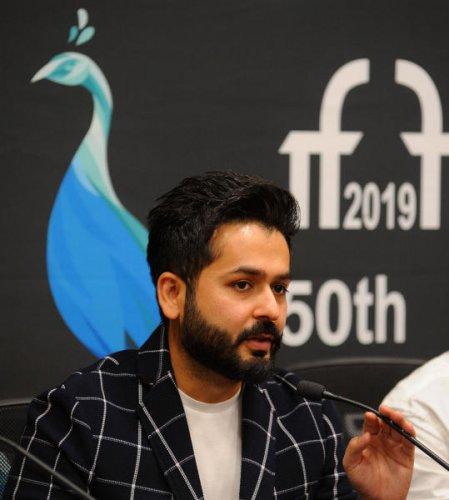 Uri Director Aditya Dhar at IFFI 2019 in Pajim, Goa.   DH Photo: Pushkar V