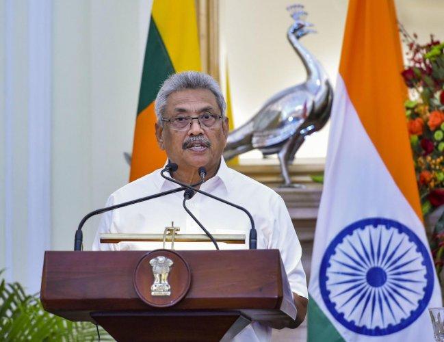 Sri Lankan President Gotabaya Rajapaksa. (PTI photo)