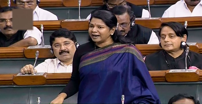 """""""It is a very bad situation across the entire country. In Tamil Nadu, Delhi, and Mumbai, the price of onions is over Rs 100 per kg,"""" DMK MP Kanimozhi said. ((LSTV/PTI Photo)"""