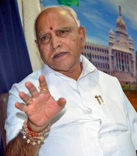 Karnataka Chief Minister B S Yediyurappa during an interview with PTI on his (BJP) Government completing 100 days, in Bengaluru, Saturday, Nov. 2, 2019. (PTI Photo)