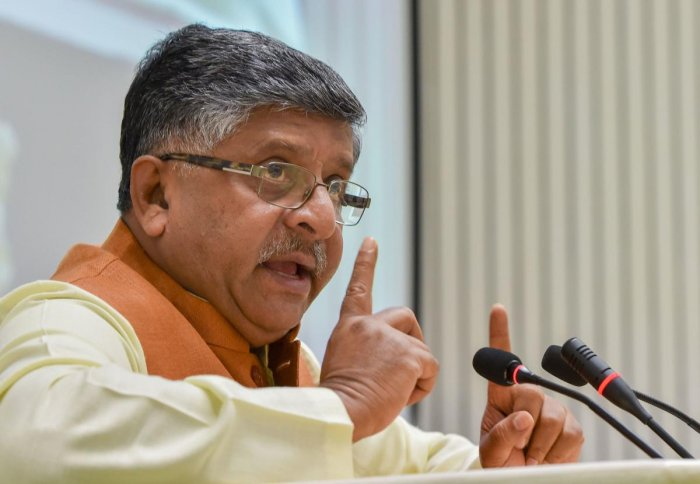 IT Minister Ravi Shankar Prasad did not give a direct reply to Congress leader Digvijaya Singh's repeated query if the government had bought Pegasus spyware from Isreali firm NSO. (PTI Photo)