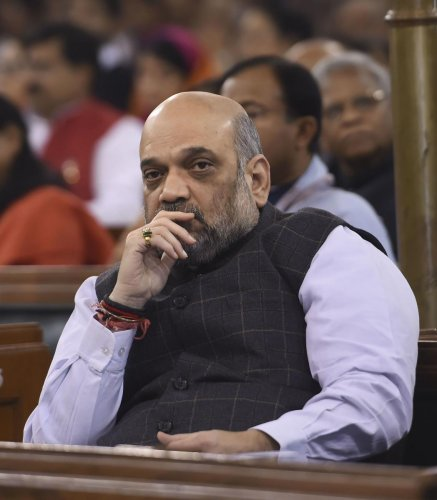 Union Home Minister Amit Shah. Photo by PTI