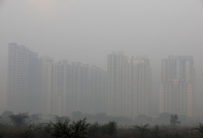 "The air quality in the national capital was recorded in the ""satisfactory"" category on Friday morning. Photo/REUTERS"
