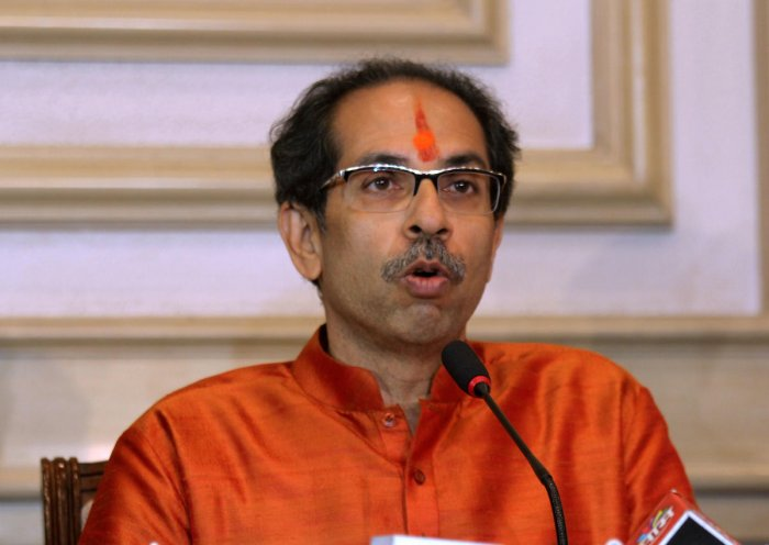 Newly elected Maharashtra Chief Minister Uddhav Thackeray addresses media at Sahyadri Guest House after the first cabinet meeting.Photo by PTI