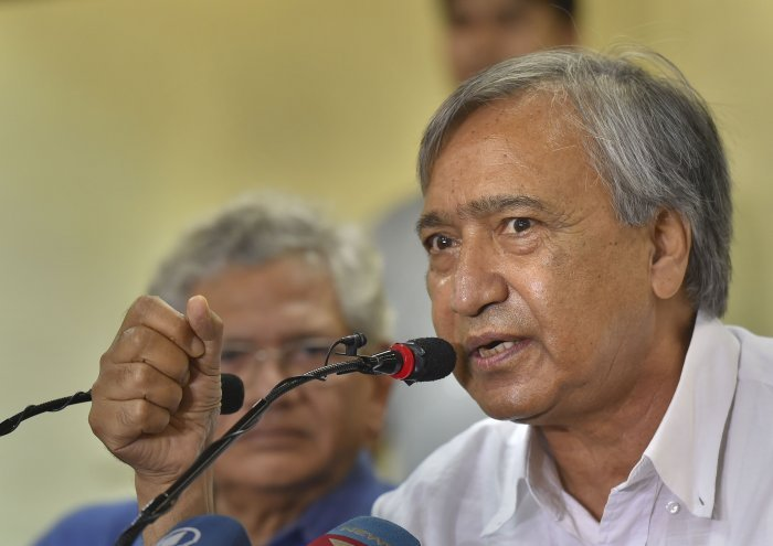 """On """"Z+ protectee"""" Tarigami, a joint letter said that there are no restrictions on the CPI(M) leader's movement to any place apart from those necessitated by the security situation and requirements of maintenance of law and order. Photo/PTI"""