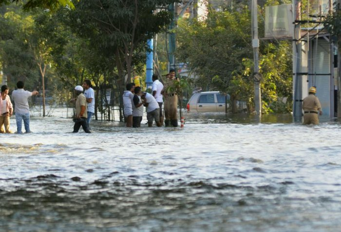 Hulimavu lake breach has brought forth a number of questions. (PTI file photo)