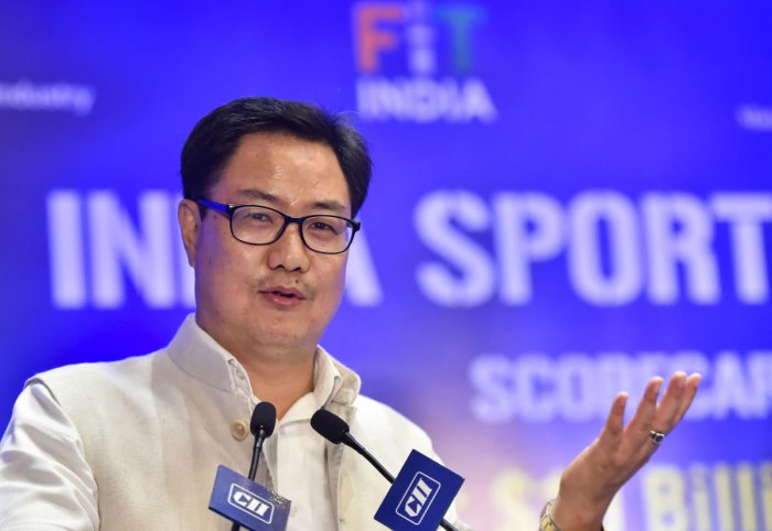 Union Sports Minister Kiren Rijiju launched the third edition of the Khelo India Youth Games. (PTI file photo)