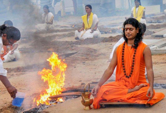 Swami Nithyananda. (PTI Photo)