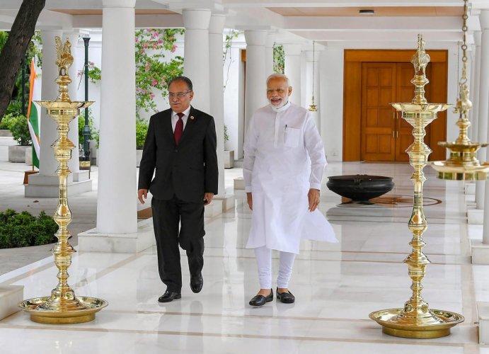 Former Nepal Prime Minister Pushpa Kamal Dahal (PTI Photo)