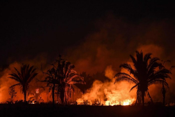 AFP file photo of a fire in the Amazon basin.