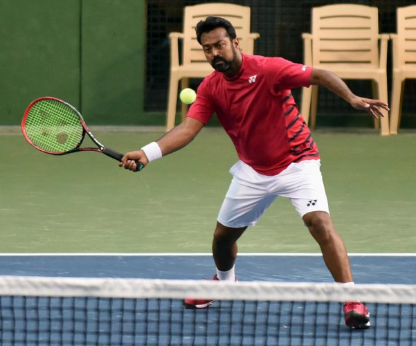 Indian Tennis Player Leander Paes. Photo by DH
