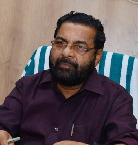 Kerala Minister for Cooperation Kadakampally Surendran. DH photo