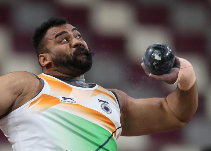 Star shot-putter Tejinder Pal Singh Toor will be India's flag-bearer at the South Asian Games opening ceremony, to be held on Sunday in Nepal's capital city of Kathmandu. Photo/REUTERS