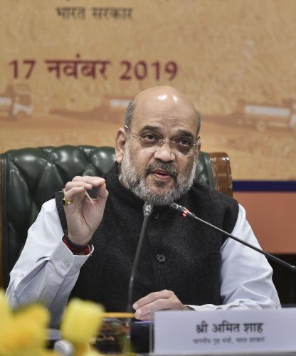 Union Home Minister Amit Shah. PTI file photo