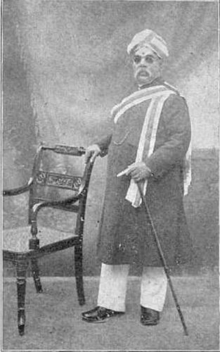 T Ananda Rao served as the dewan between 1909 and 1912.