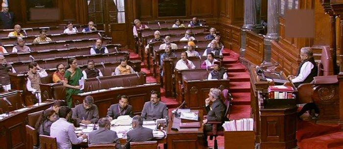 At the end of the first half of the ongoing winter session, Rajya Sabha has reported productivity of 89 per cent for the first two weeks combined. Photo/PTI