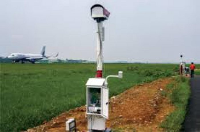 Drishti Transmissometer installed for India Meteorological Department (IMD) at Kempegowda International Airport (KIA) in Bengaluru.
