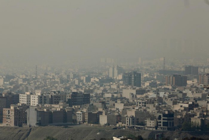 A general view taken from Western Tehran shows a blanket of brown-white smog covering the city as heavy pollution hit the Iranian capital. AFP file photo