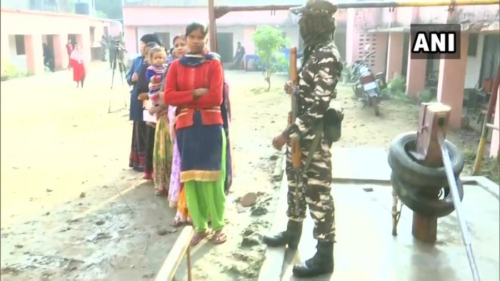 First phase of polls in Jharkhand's assembly elections. (ANI Photo)