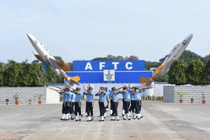 The Air Warrior Drill Team performs during the passing-out parade in Jalahalli on Saturday. photo Courtesy: MoD