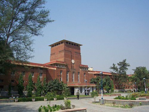 University of Delhi's main building, housed in former Viceregal Lodge. (Wikimedia Commons Photo)