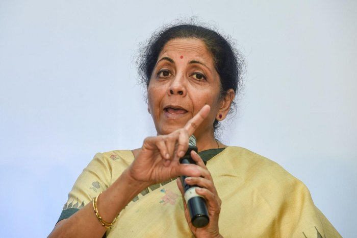 Finance Minister Nirmala Sitharaman announced that the government will undertake strategic stake sales in five state-run enterprises. (PTI file photo)