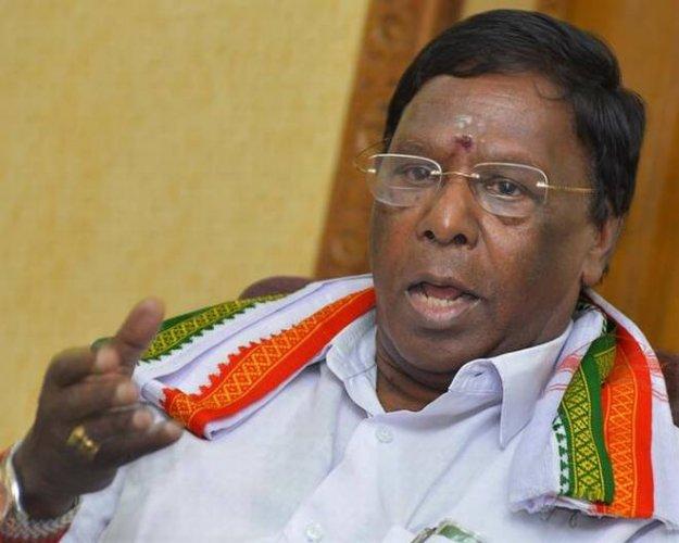 Puducherry CM V Narayanasamy. (PTI Photo)