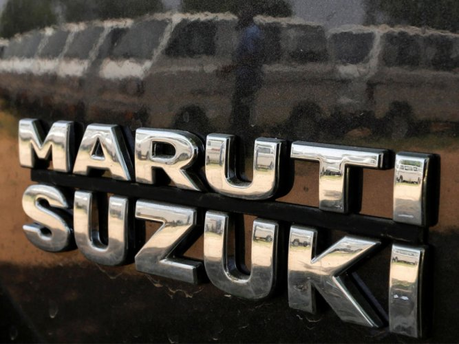 The Logo of Maruti Suzuki. DH photo