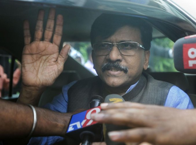 Shiv Sena leader Sanjay Raut talks to the media as he leaves from a hotel in Mumbai, Tuesday, Nov. 26, 2019. (PTI Photo)