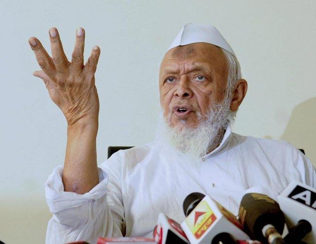 President of Jamiat Ulema-e-Hind Maulana Syed Arshad Madani(Photo by PTI)