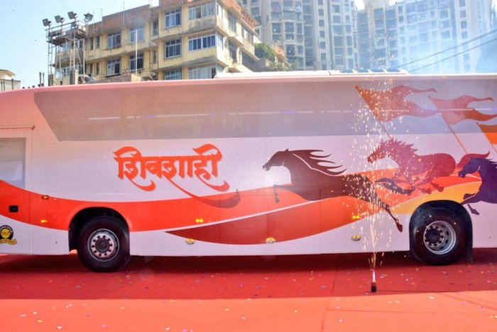 Dayama in his complaint said the state transport advertised that the 'Shivshahi' bus had the mobile charging point and AC, and charged the fare accordingly, but both the facilities were found defunct. Photo (Twitter @Dev_Fadnavis)