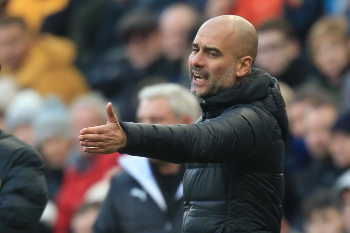 Manchester City's Spanish manager Pep Guardiola. (AFP Photo)