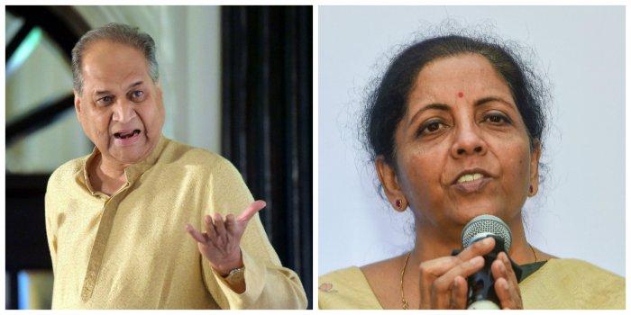 Rahul Bajaj and Union finance minister Nirmala Sitharaman (PTI Photos)
