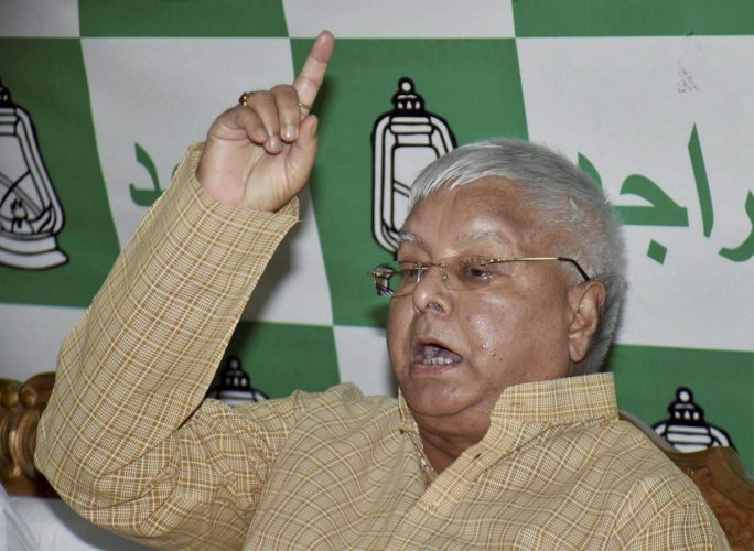 The saffron party's fresh tirade came in the wake of speculations in a section of the media that the RJD founder, in Ranchi serving sentences in fodder scam cases for more than a year, is likely to run for his 11th consecutive term as the party's national president. (PTI file photo)