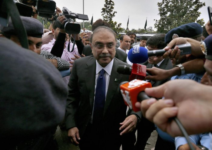 Zardari, 64, was arrested in June after his bail application was rejected in connection to the fake bank accounts case. The case pertains to a massive money laundering scam that was previously being probed by the Federal Investigation Agency. Photo/PTI