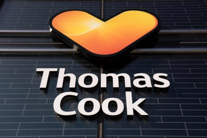 The Logo of Thomas Cook India Ltd. AFP photo