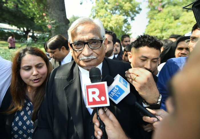 The 74-year-old senior advocate had given up practice following his courtroom spat with then Chief Justice of India Dipak Misra, but he reconsidered his decision later. Photo/PTI